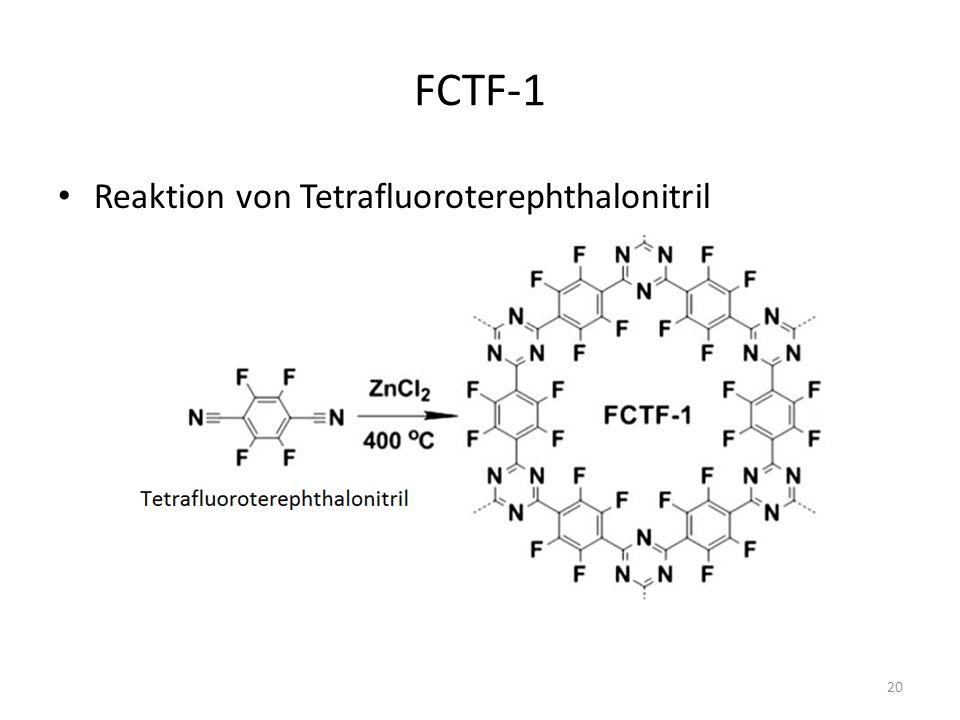 FCTF-1 Reaktion von Tetrafluoroterephthalonitril 20