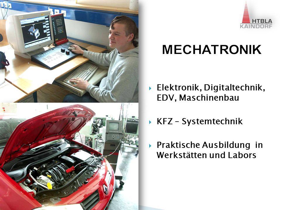 Mechatronikunterricht findet im neuen Schulgebäude in Arnfels statt Ideal dazu das Schülerheim Gehzeit 5 min Jedes Zimmer mit PC und Internet Hoher Freizeitwert
