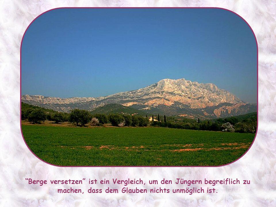 Und tatsächlich, wenn du in der ganzen Kirchengeschichte suchst, wirst du keinen Heiligen finden, der – soviel ich weiß – mit seinem Glauben Berge ver