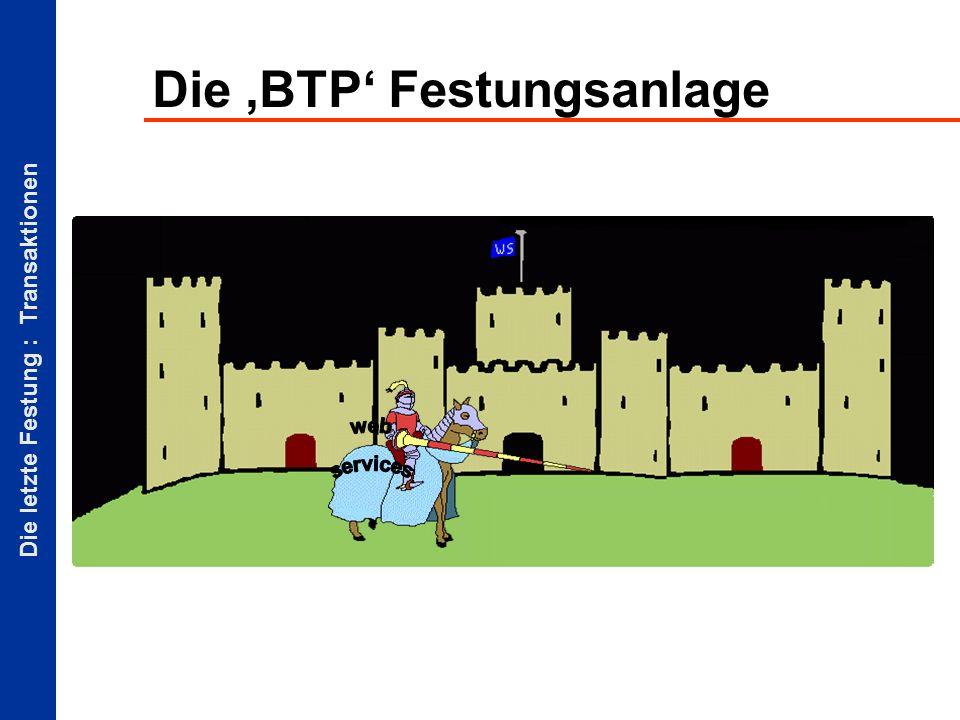 Die letzte Festung : Transaktionen Die BTP Festungsanlage