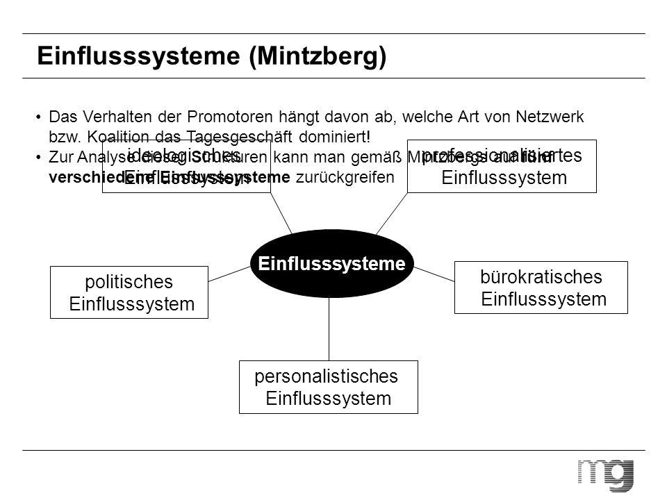 Einflusssysteme (Mintzberg) politisches Einflusssystem personalistisches Einflusssystem ideologisches Einflusssystem bürokratisches Einflusssystem pro