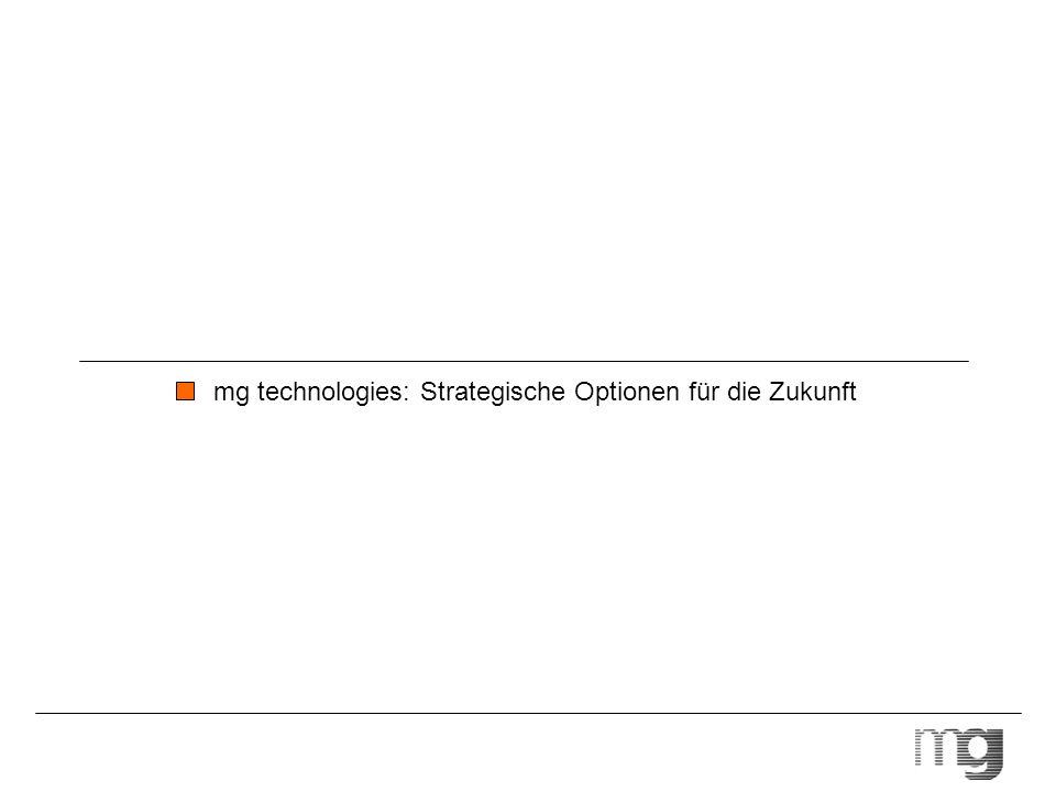 mg technologies: Strategische Optionen für die Zukunft