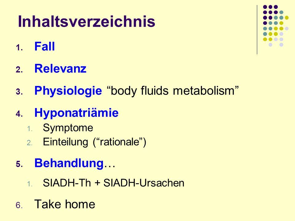 Teaching points Hyponatriämie 1.differenziertes Handeln 2.