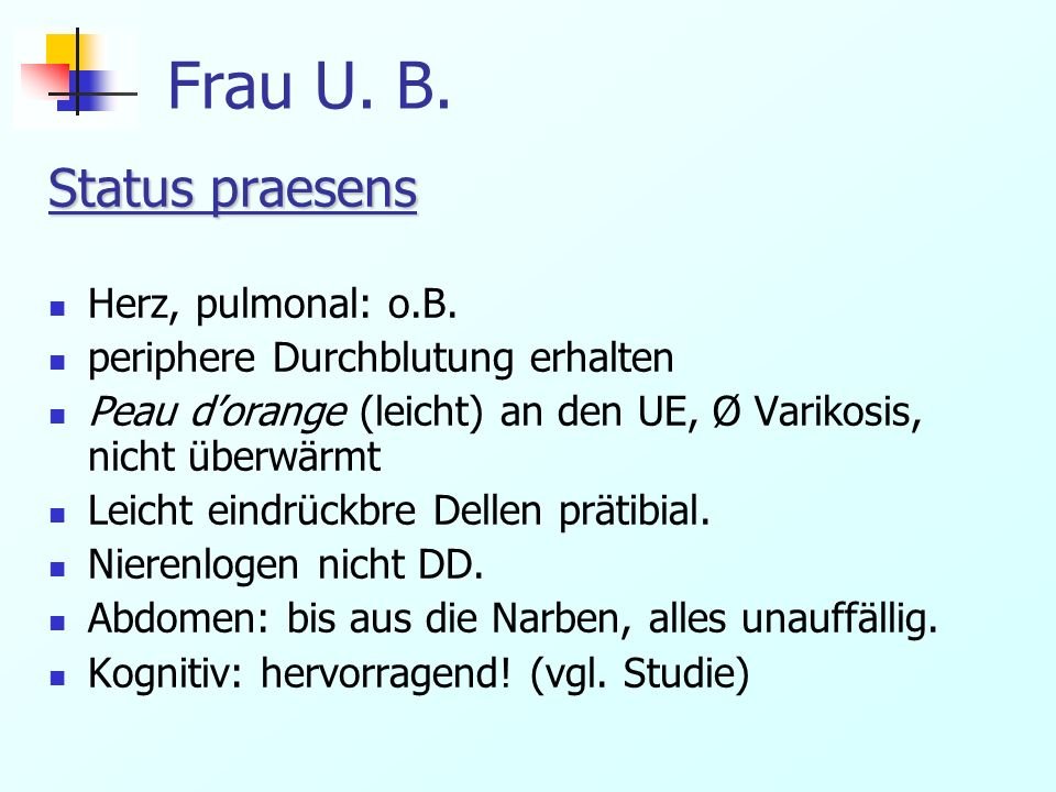 Frau U.B. Operation EKG: leichte ST – Hebung (Anästhesist: ev.