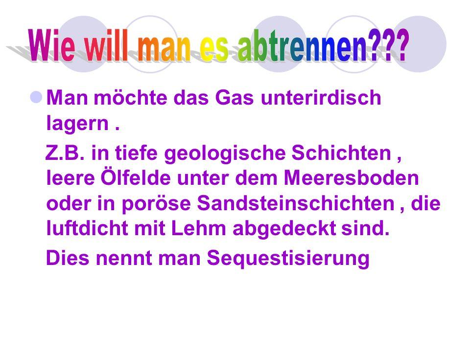 CO² ist ein Gas das die Erdatmosphäre erwärmt.