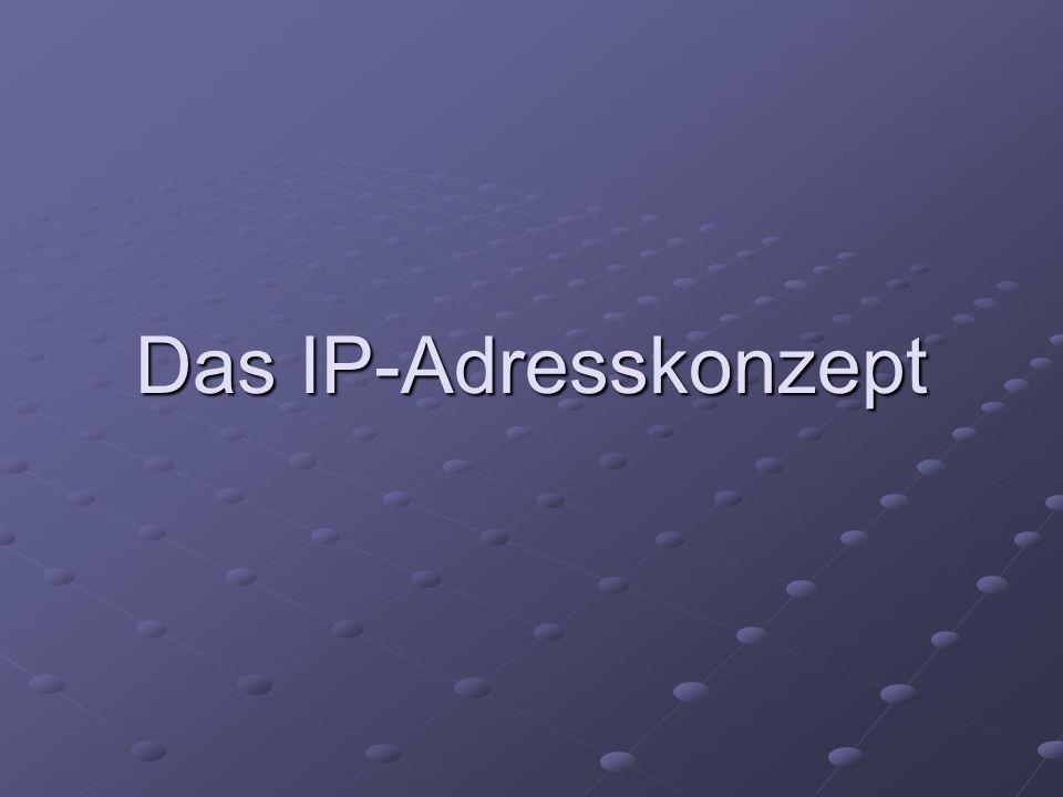 Das IP-Adresskonzept