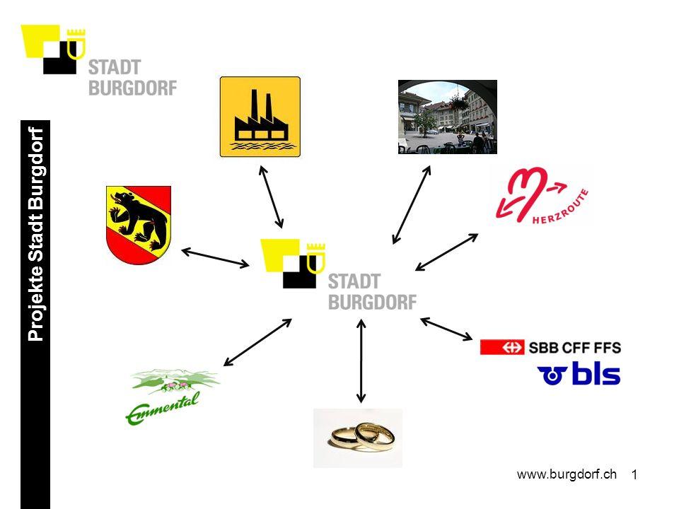 2 Projekte Stadt Burgdorf www.burgdorf.ch Neuer Schwung für Tourismus Emmental Pro Kopf Beiträge aus der Region: 2.