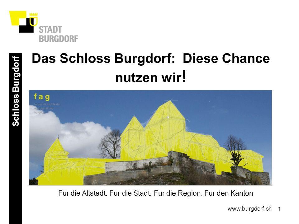 1 Schloss Burgdorf www.burgdorf.ch Das Schloss Burgdorf: Diese Chance nutzen wir .