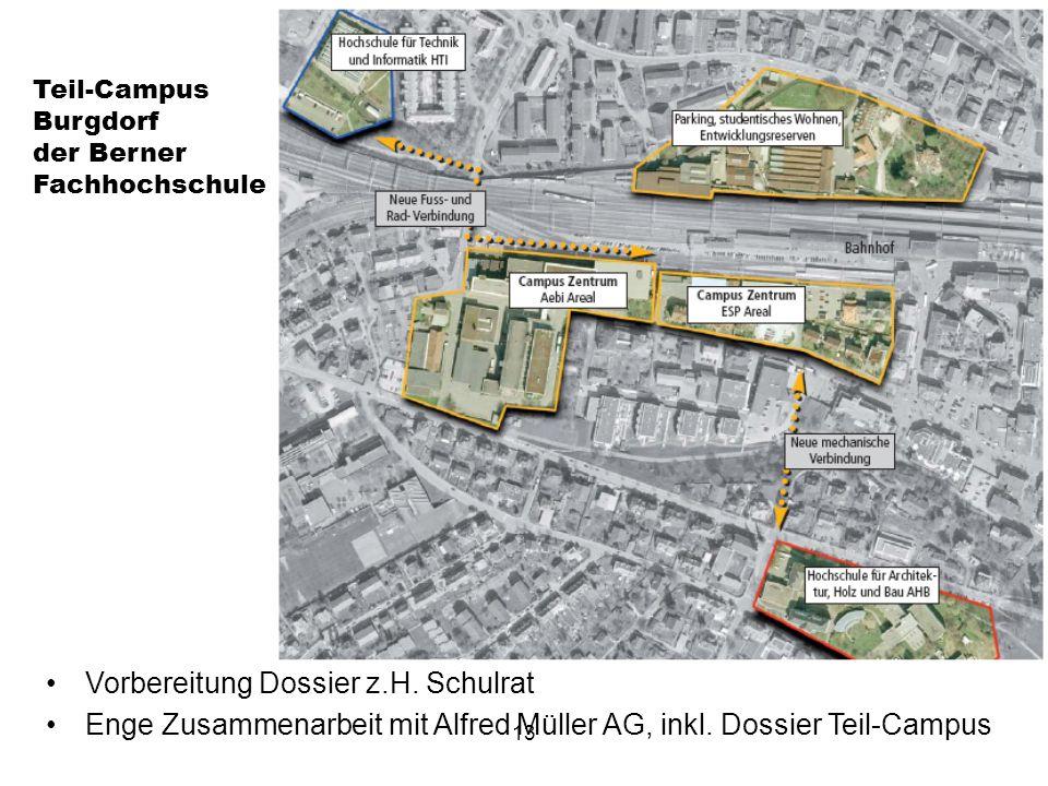 13 Teil-Campus Burgdorf der Berner Fachhochschule Vorbereitung Dossier z.H.