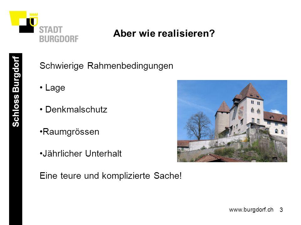 4 Schloss Burgdorf www.burgdorf.ch Profis sind gefragt.