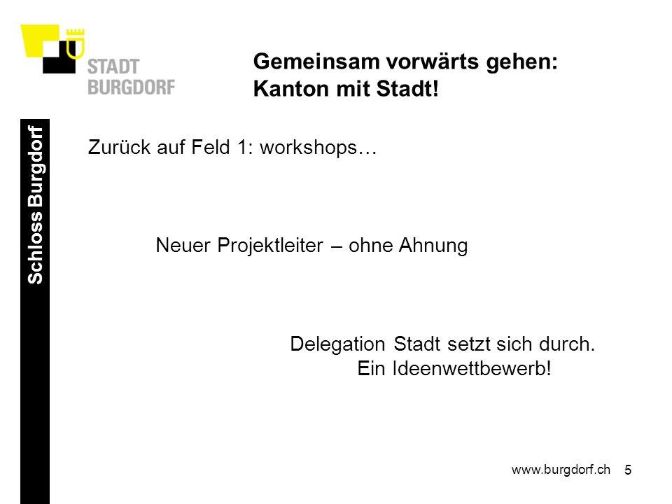 5 Schloss Burgdorf www.burgdorf.ch Gemeinsam vorwärts gehen: Kanton mit Stadt.