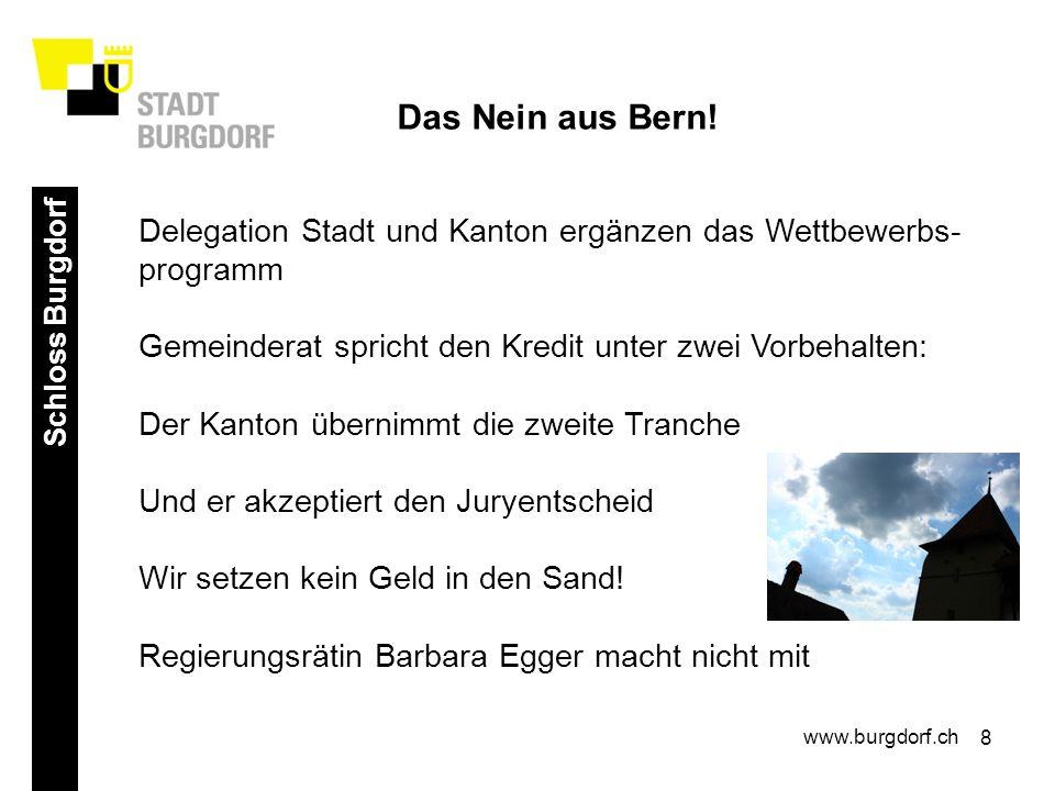 8 Schloss Burgdorf www.burgdorf.ch Das Nein aus Bern.