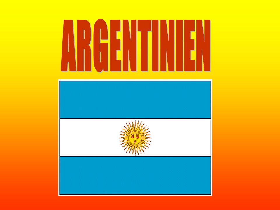 Argentinien liegt in Südamerika, es ist dass 7größte Land der Welt mit 2,8 Millionen Quadratkilometer Land.