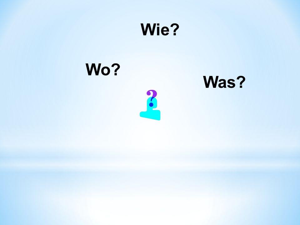 Was? Wie? Wo?