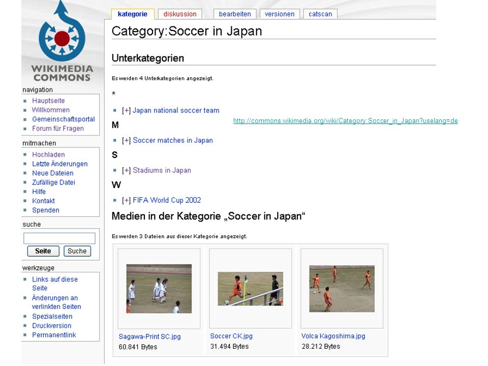 http://commons.wikimedia.org/wiki/Category:Soccer_in_Japan?uselang=de