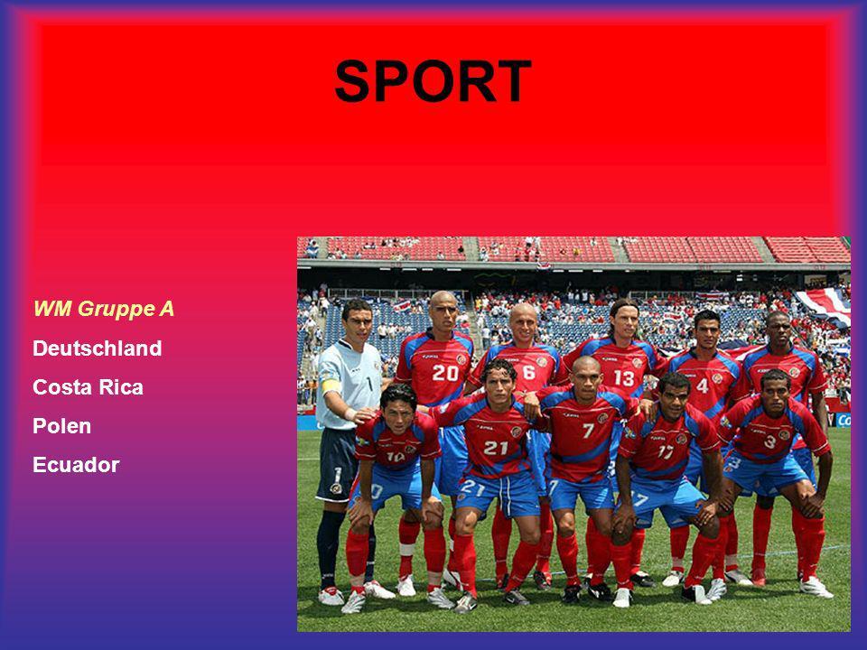 SPORT WM Gruppe A Deutschland Costa Rica Polen Ecuador