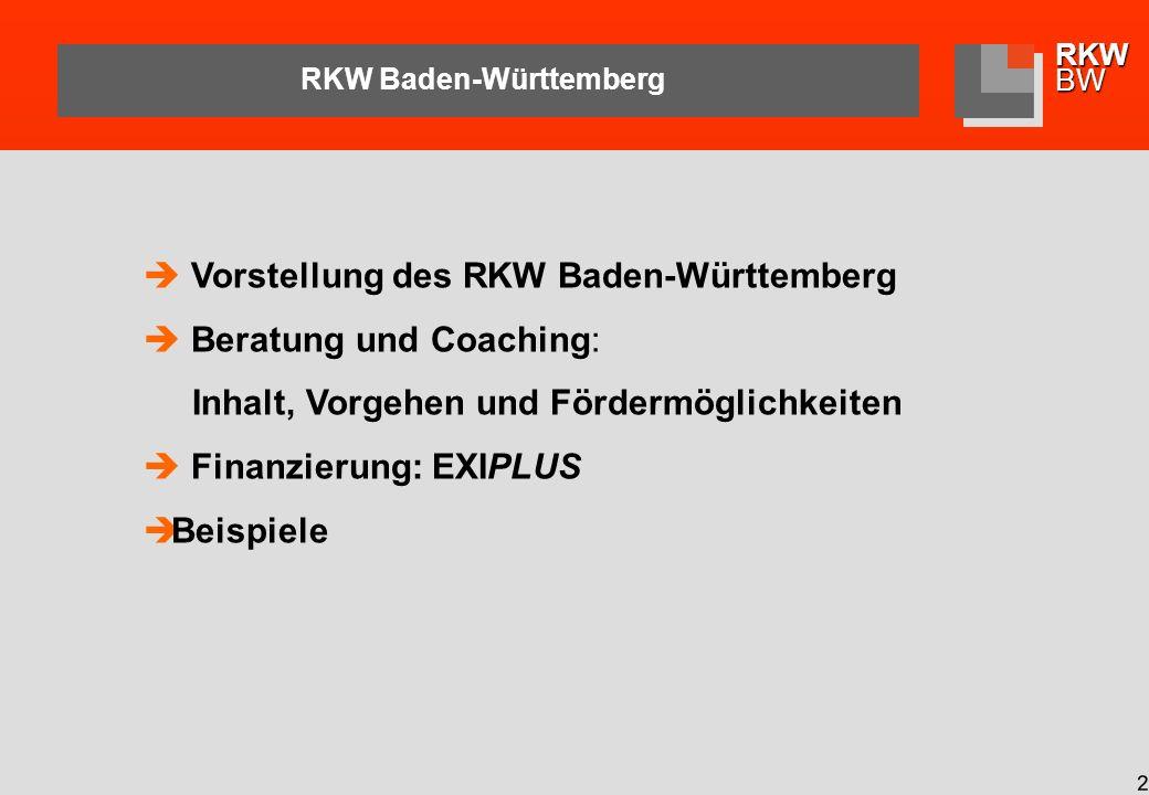 RKWBW 3 RKW Baden-Württemberg Organisation: Wir sind Teil einer bundesweiten Organisation in der Rechtsform eines eingetragenen, gemeinnützigen Vereins und einer GmbH Unsere Dienstleistung: Unternehmensberatung - Weiterbildung - Information Unsere Kunden: Kleine und mittlere Unternehmen sämtlicher Branchen, insbesondere der Industrie und des Dienstleistungssektors Unser Auftrag: Mittelstandsförderung als Kernaufgabe.