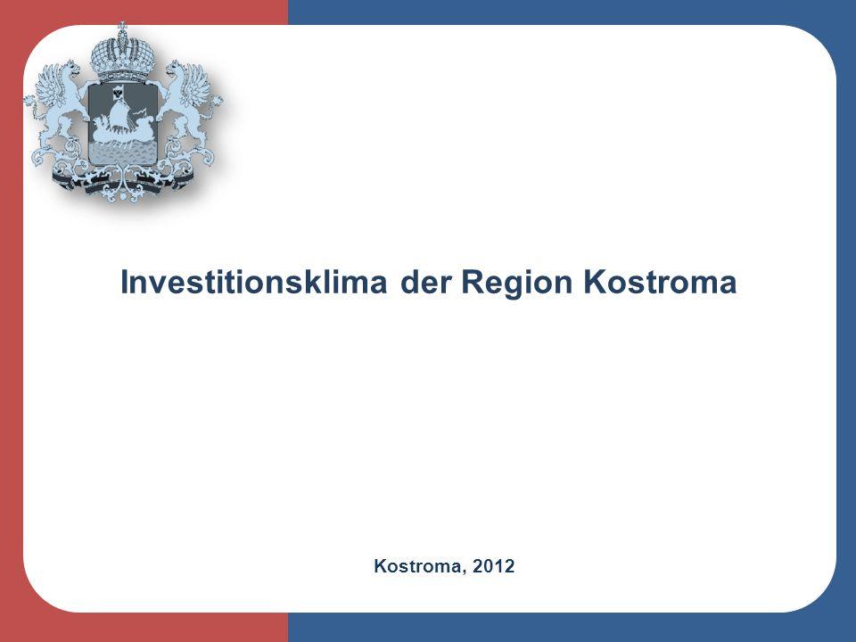 Kostroma, 2012 Investitionsklima der Region Kostroma