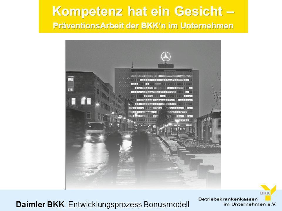 Das Profil der Daimler Betriebskrankenkasse (BKK) Die Daimler AG beschäftigt rd.
