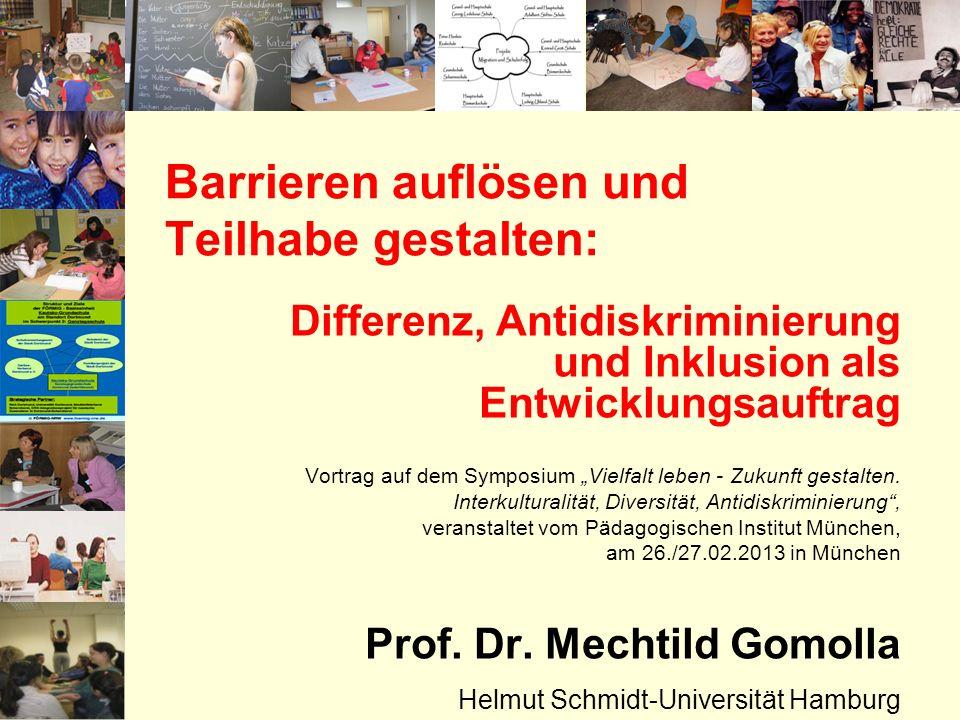 Barrieren auflösen und Teilhabe gestalten: Differenz, Antidiskriminierung und Inklusion als Entwicklungsauftrag Vortrag auf dem Symposium Vielfalt leb