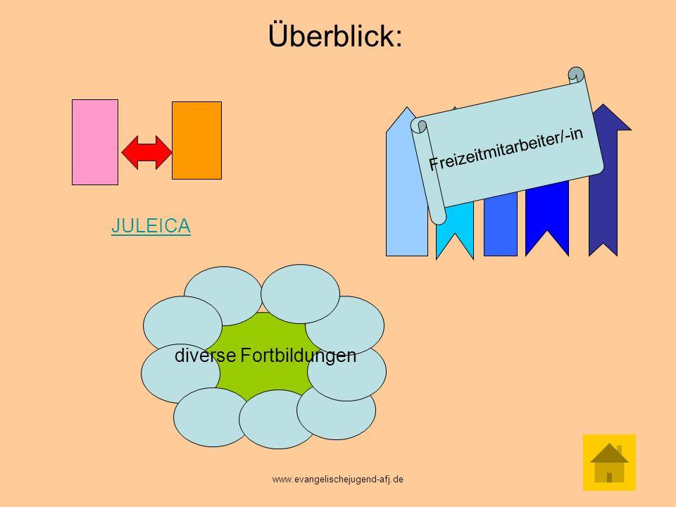 Wie sieht das JULEICA- Fortbildungsprojekt inhaltlich aus.