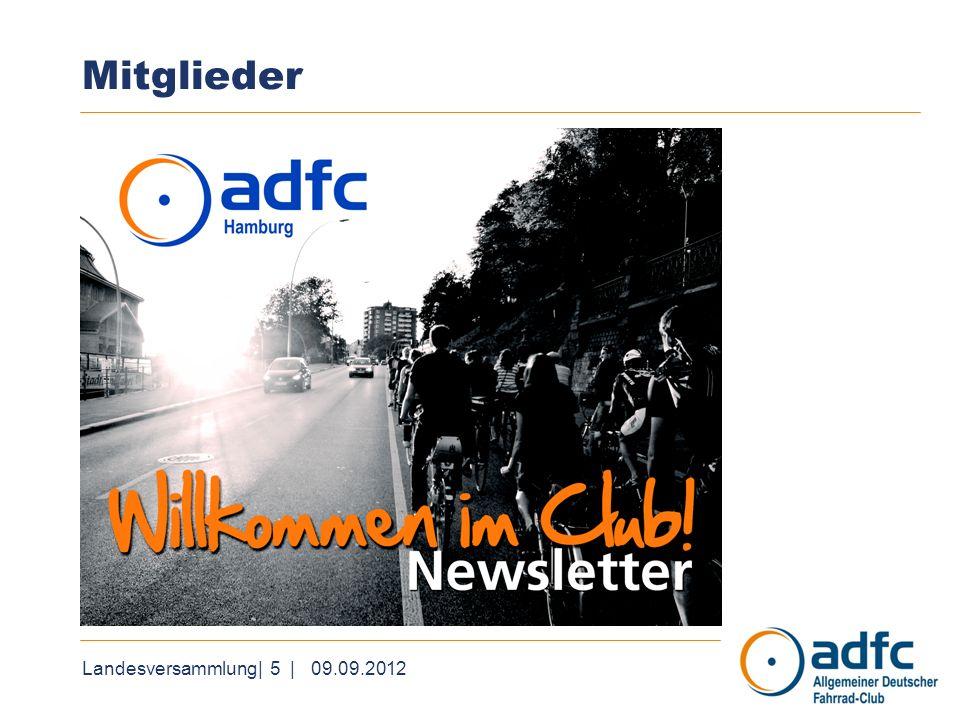 Landesversammlung| 6 | 09.09.2012 Geschäftsstelle & Vorstand ADFC HH ist moderner und zuverlässiger Arbeitgeber.