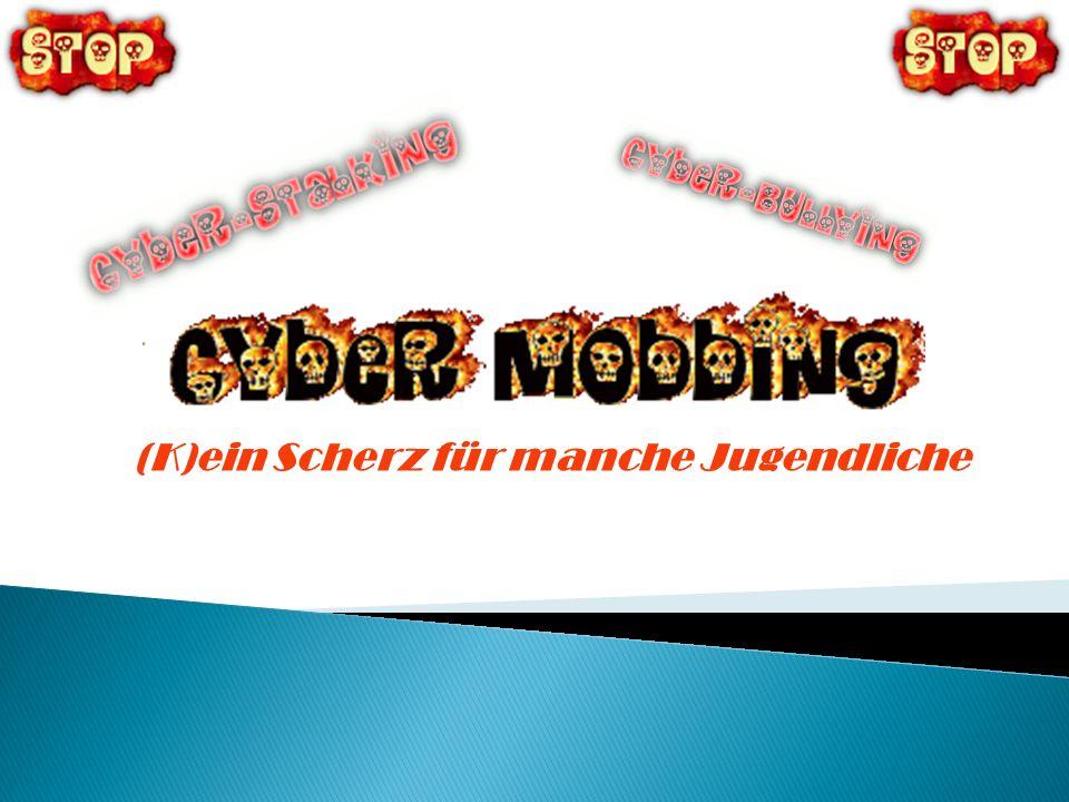 Unter Cyber-Mobbing, oder auch Cyber-Bullying und Cyber-Stalking genannt, versteht man die Drangsalierung anderer Menschen mit Hilfe elektronischer Kommunikationsmittel durch einzelne Personen oder durch Gruppen über das Internet, in Chatrooms, beim Instant Messaging und/oder auch mittels Mobiltelefonen.