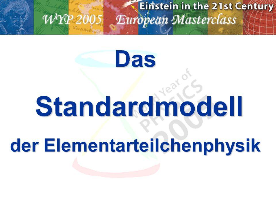 WYP 2005 European Masterclass Das Standardmodell Standardmodell der Elementarteilchenphysik
