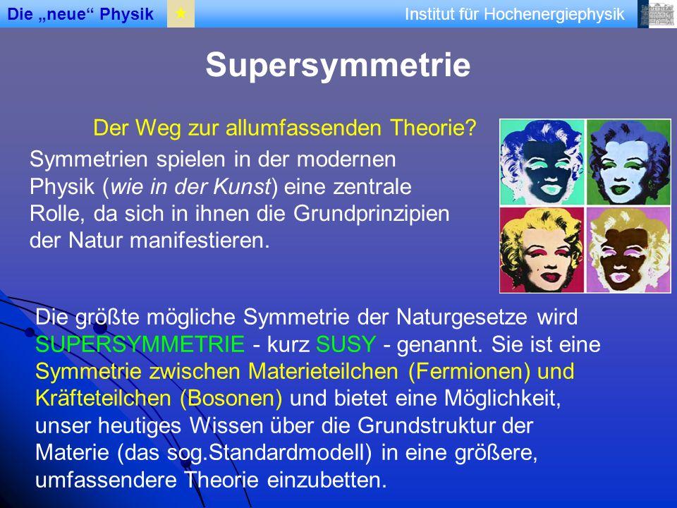 Institut für Hochenergiephysik Supersymmetrie Der Weg zur allumfassenden Theorie.