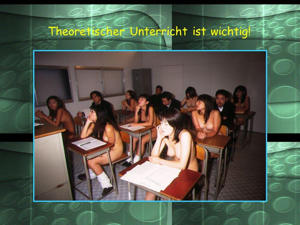 Theoretischer Unterricht ist wichtig!