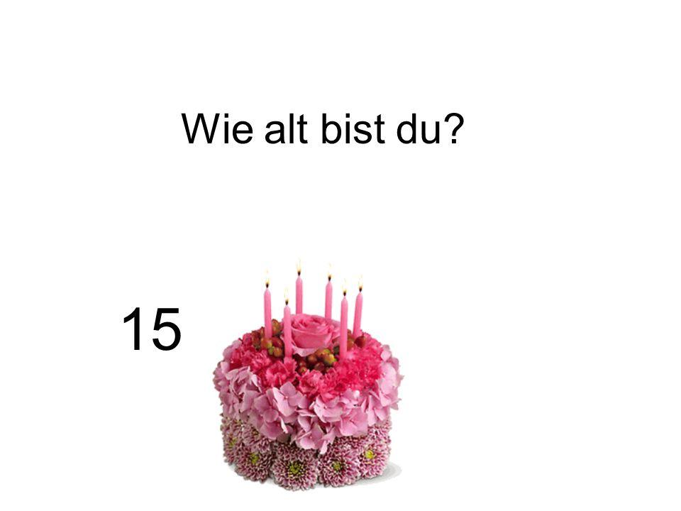 Wie alt bist du? 15