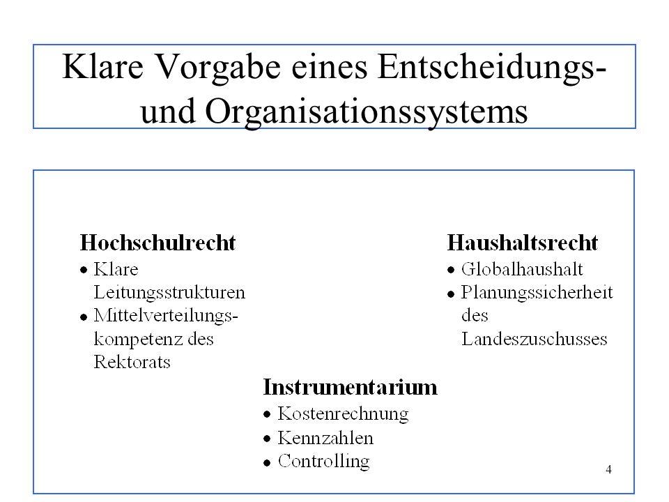 4 Klare Vorgabe eines Entscheidungs- und Organisationssystems