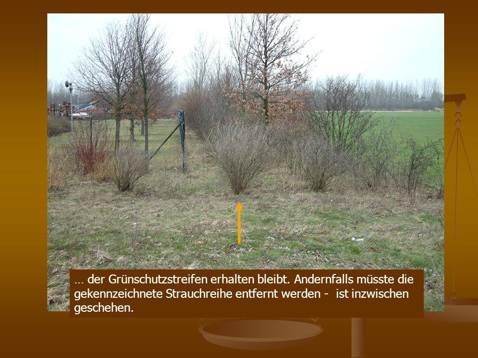… der Grünschutzstreifen erhalten bleibt.
