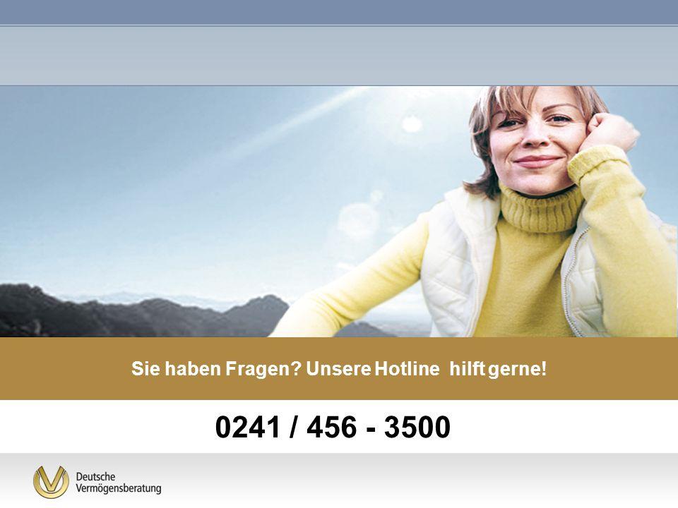 0241 / 456 - 3500 Sie haben Fragen? Unsere Hotline hilft gerne!