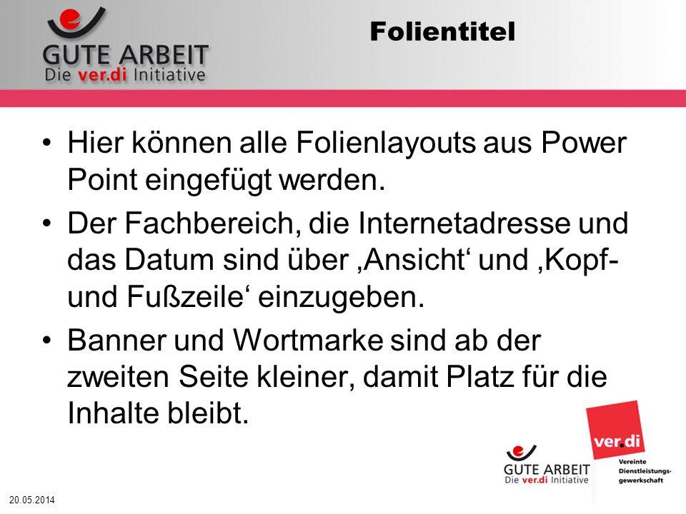 20.05.2014 Arbeitsintensität Belastung tritt auf & beansprucht..