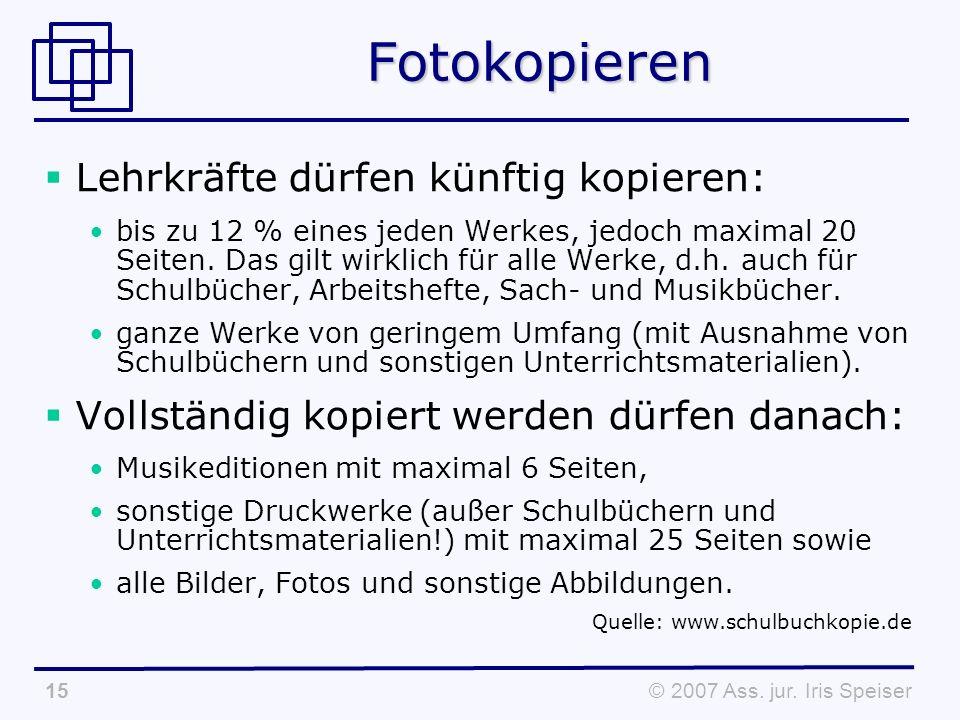 © 2007 Ass. jur.