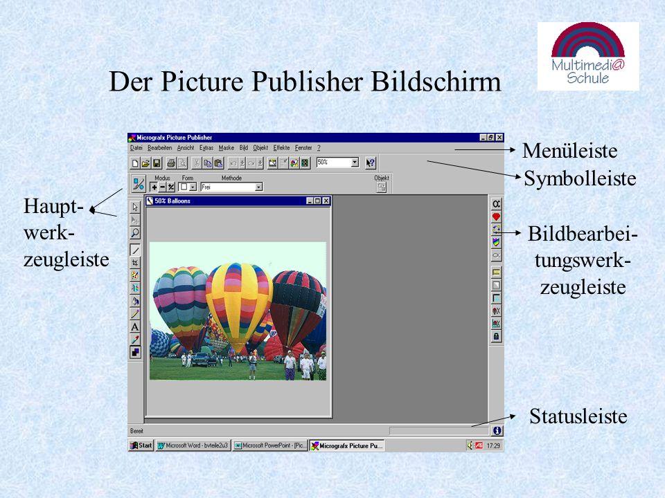 Bearbeiten: Markieren eines oder mehrerer Objekte Umformen: ein markiertes Objekt kann z.B.
