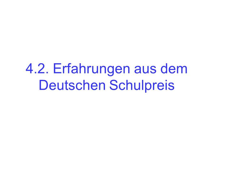 4.2. Erfahrungen aus dem Deutschen Schulpreis