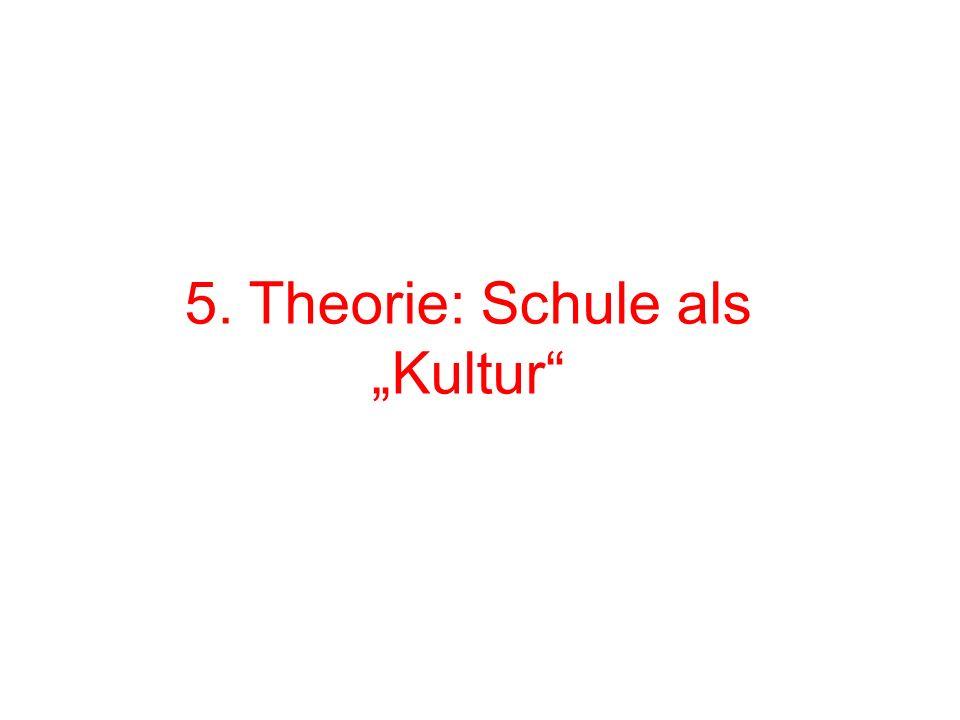 5. Theorie: Schule als Kultur