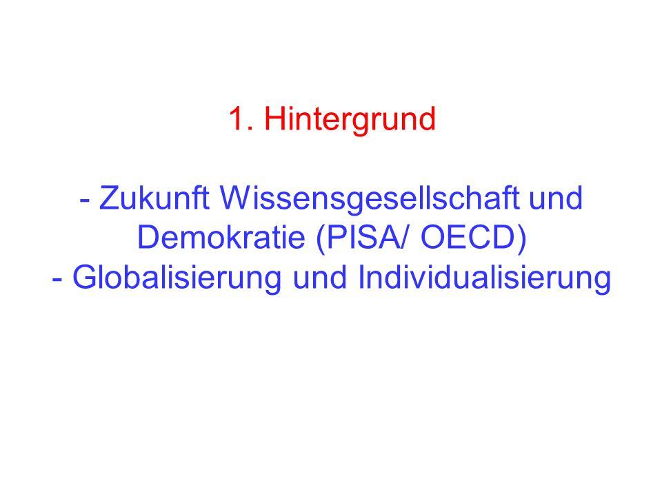 1. Hintergrund - Zukunft Wissensgesellschaft und Demokratie (PISA/ OECD) - Globalisierung und Individualisierung