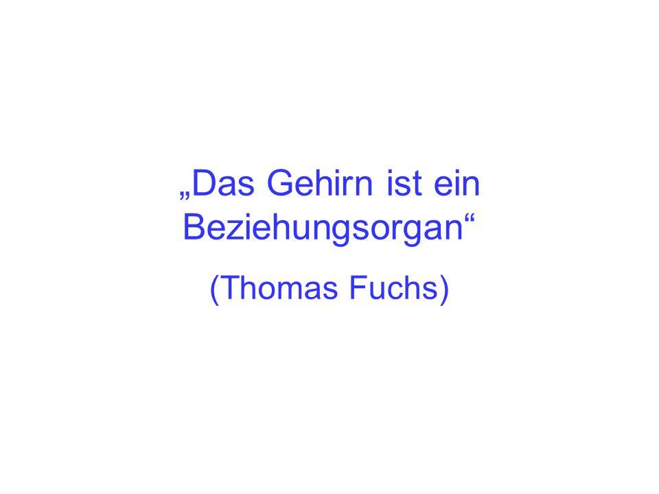 Das Gehirn ist ein Beziehungsorgan (Thomas Fuchs)