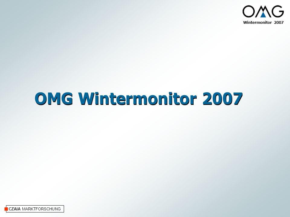 CZAIA MARKTFORSCHUNG Wintermonitor 2007 OMG Wintermonitor 2007