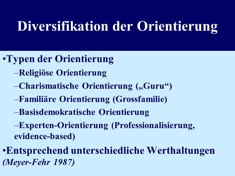 Langzeitbehandlung stationär Diversifikation der Therapieziele und -methoden Bessere Professionalisierung und Vernetzung Individualisierung der Therap