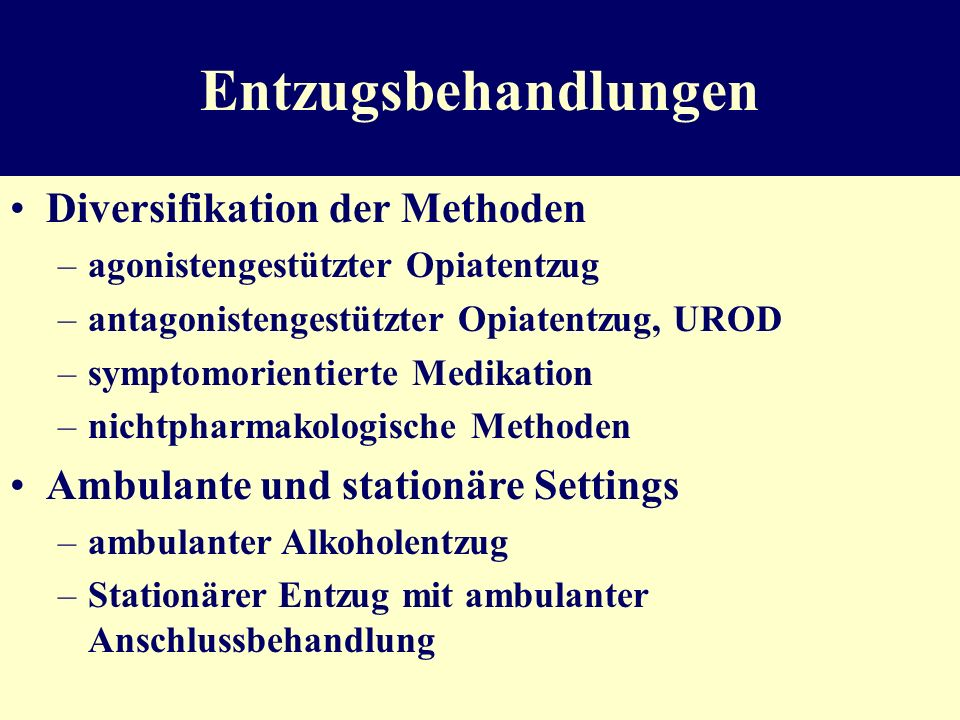 Früh-Intervention und Motivationsförderung ambulant Anwendbar bei riskantem/schädlichem Konsum von Alkohol, Nikotin, Medikamenten Ziel : Einsicht in d