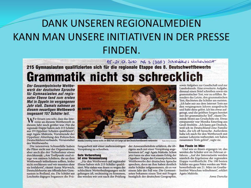 Außer Initiativen für unsere Schüler, organisieren wir auch viel für uns und andere DeutschlehrerInnen.