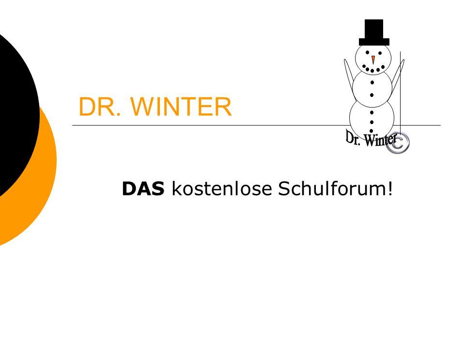 DR. WINTER DAS kostenlose Schulforum!