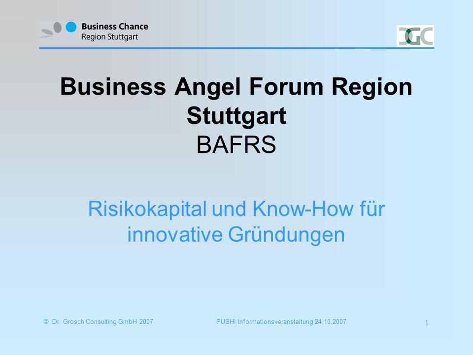 © Dr.Grosch Consulting GmbH 20072 PUSH. Informationsveranstaltung 24.10.2007 Portrait Dr.