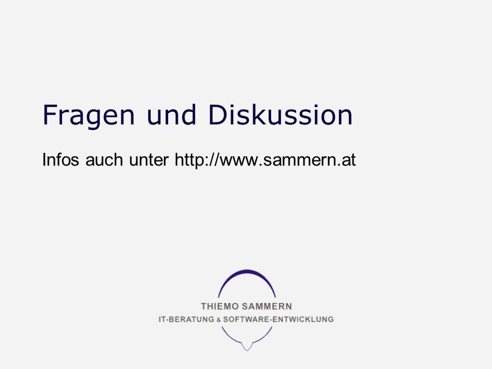 Fragen und Diskussion Infos auch unter http://www.sammern.at