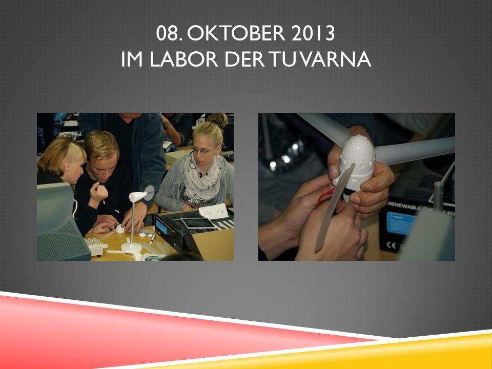 08. OKTOBER 2013 IM LABOR DER TU VARNA