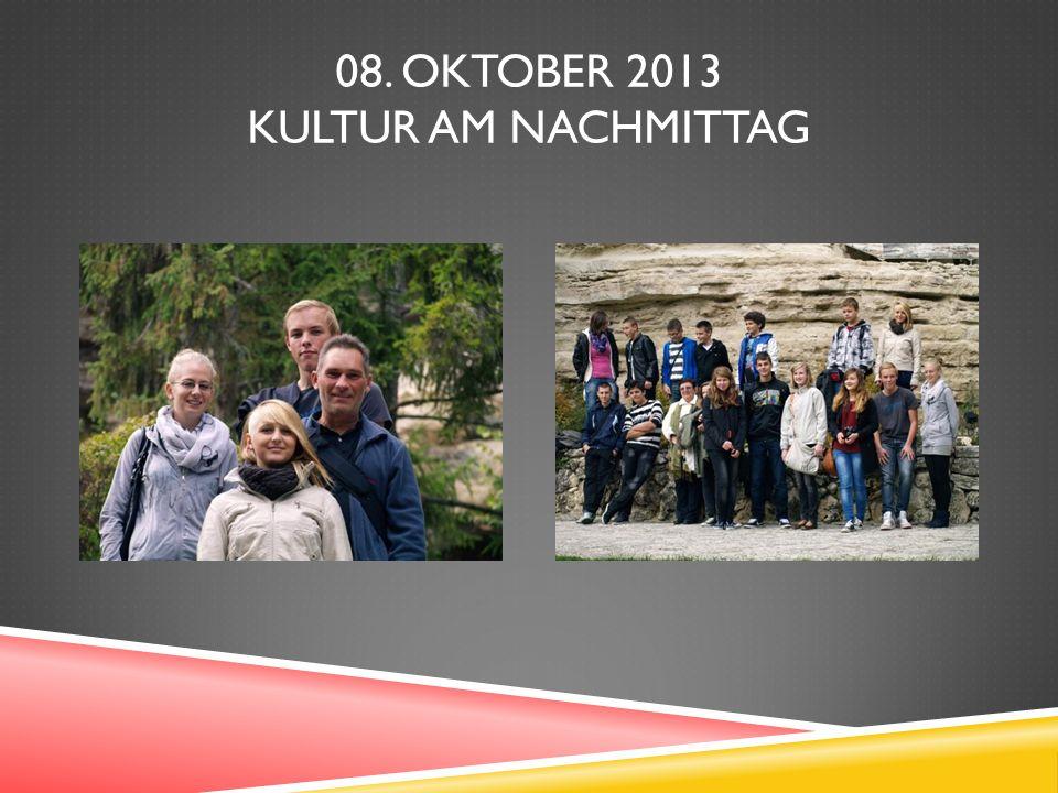 08. OKTOBER 2013 KULTUR AM NACHMITTAG